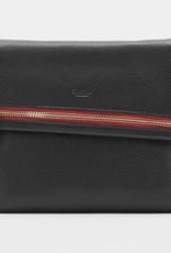 Hammitt VIP Leather Crossbody Clutch Black BG Red Medium