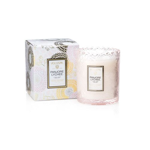 Voluspa Scalloped Candlepot Japonica Limited Panjore Lychee