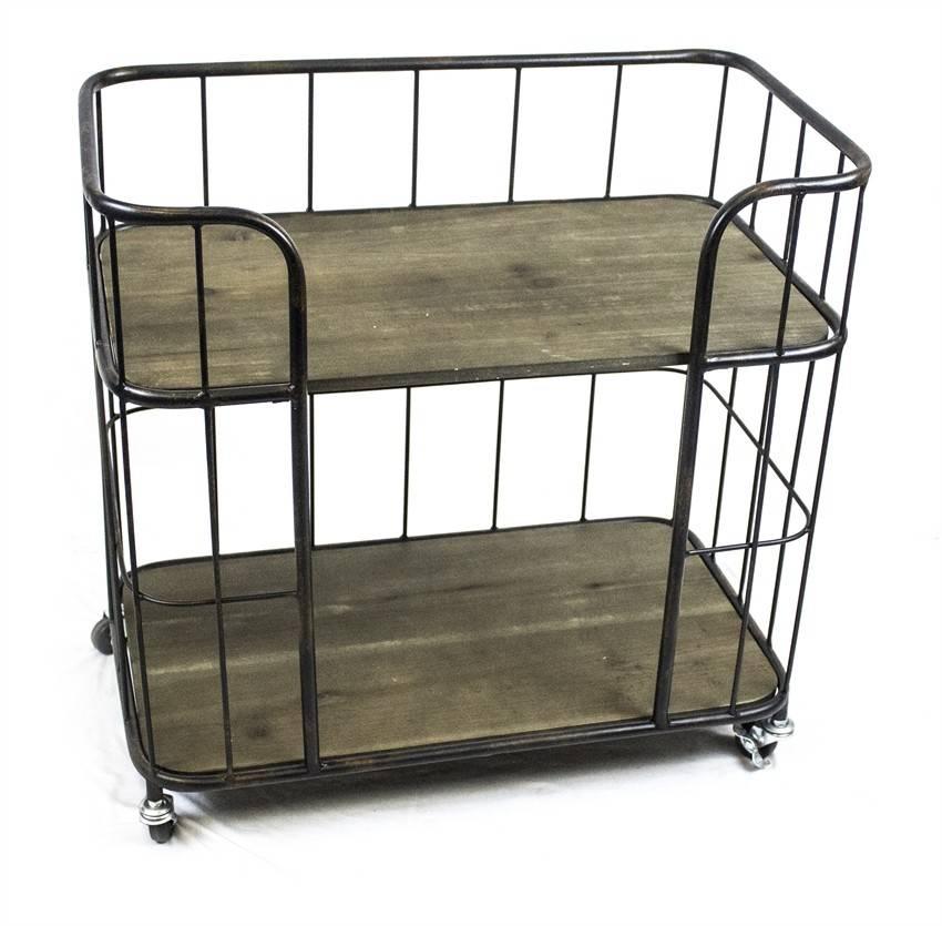 Metal & Wood Service Cart