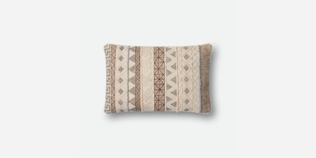 Zig Zag Stripe Design Pillow - Multi