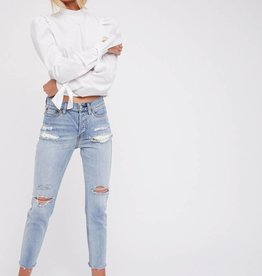 Free People Lacey Stilt Jean Lt Denim