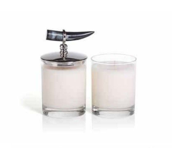 Zodax Cote d'Ivoire Horn Scented Candle - Coconut Mango