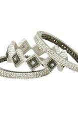 Freida Rothman Industrial Finish 3 Stack Rings - Diamond