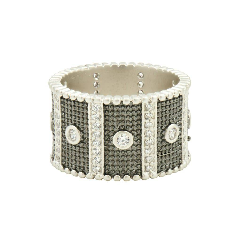 Freida Rothman Industrial Finish Wide Band Ring