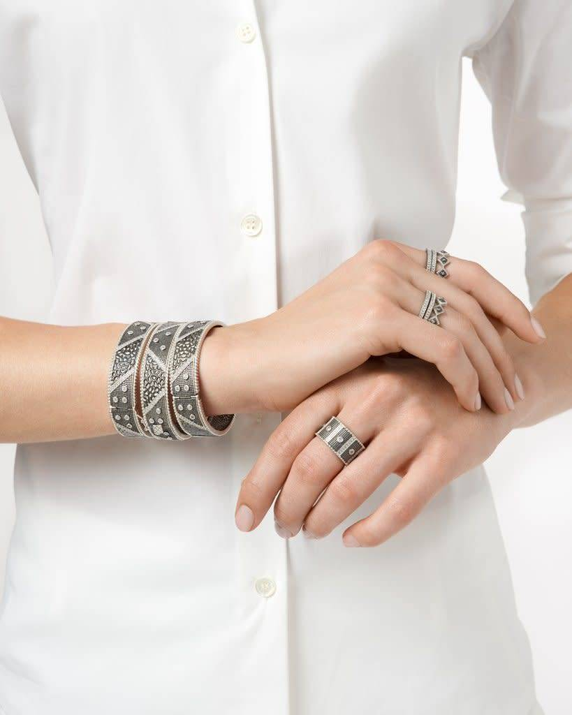 Freida Rothman Industrial Finish Wide Band Ring