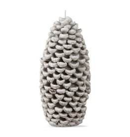 Frosted Pinecone Candle Large