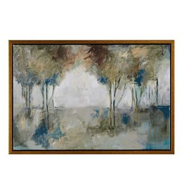 Muted Trees At Dusk Framed Canvas