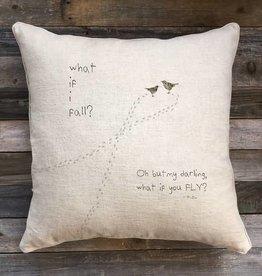 'What If' Natural Linen Pillow - 22 x 22