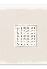 'i miss you' Greeting Card