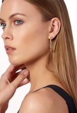 Freida Rothman Signature Arrow Station Hoop Earrings