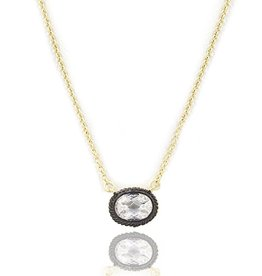 Freida Rothman Small Bezle Raindrop Pendant Necklace