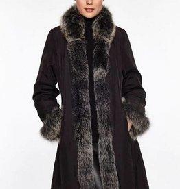 Linda Richards Chevron Fox Shawl Jacket Black/Silver