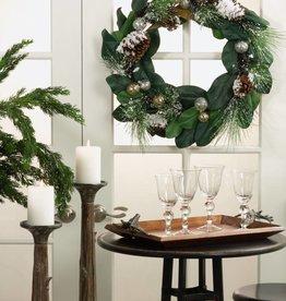 "Mixed Greenery Wreath 27"""