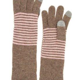 Stripe Pattern Long Glove