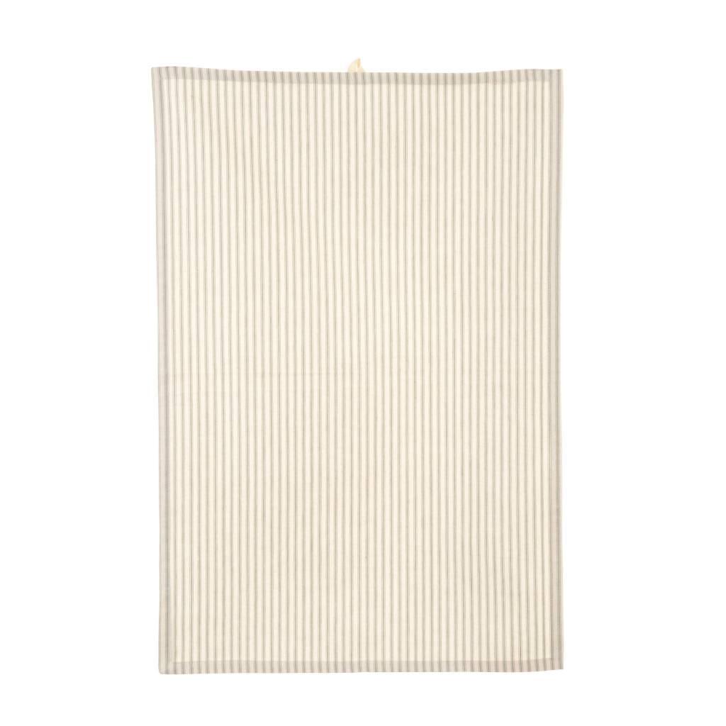 Grey Ticking Tea Towel