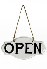 Open Porcelain Sign