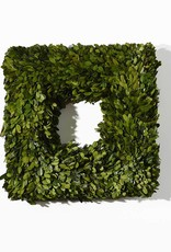 Boxwood Square Wreath 16""
