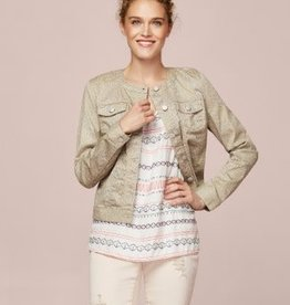 Tribal Button Front Jacket Stone