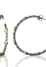 Freida Rothman Signature Teardrop Hoop Earrings