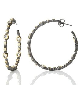 Freida Rothman Signature Teardrop Hoop Earrings