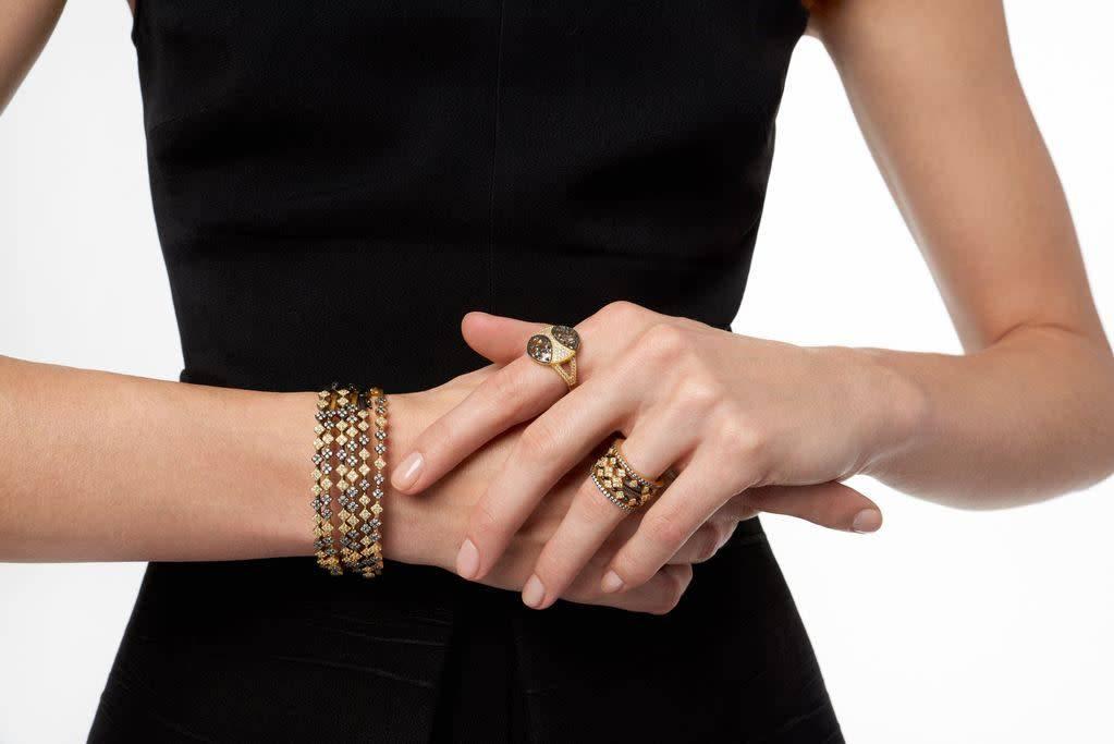 Freida Rothman Rose D'or 5 Stack Ring