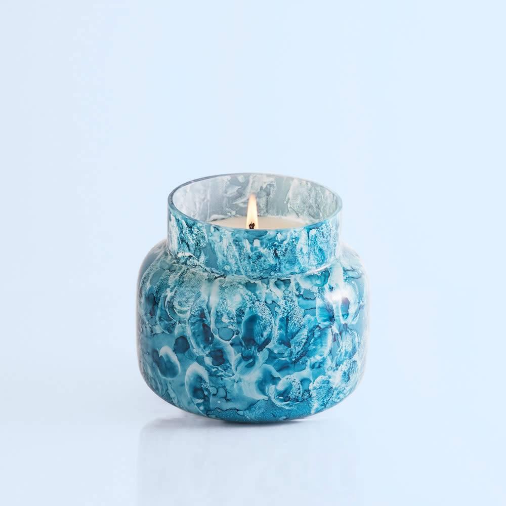 Capri Blue 19 oz Indigo Signature Jar -  Rain Watercolor