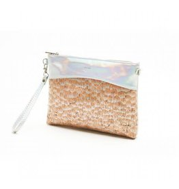 Pixie Mood Nicole Large Pouch - Holographic & Holo Cork