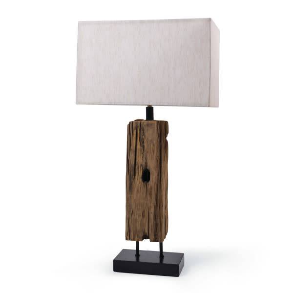 Reclaimed Wood Table Lamp