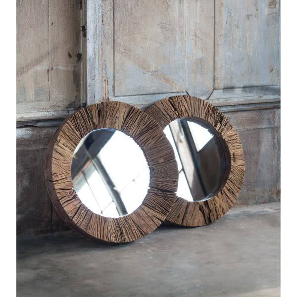 Concave Reclaimed Wood Mirror