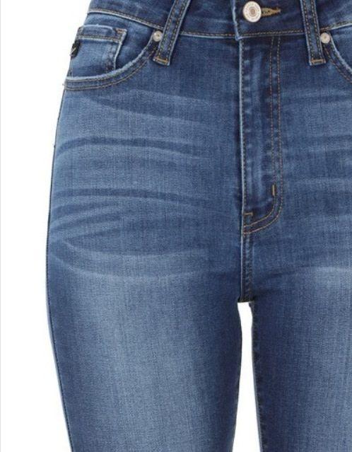 KanCan High Rise Skinny Jean Med Wash