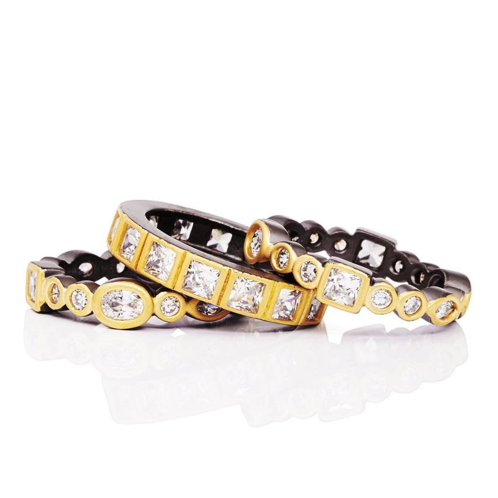 Freida Rothman Radiance Mixed Stone Ring Set