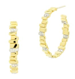 Freida Rothman Raidiance Hoop Earrings