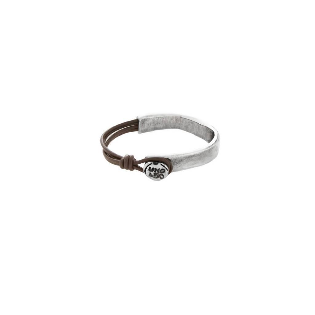 uno de 50 Half Links Bracelet Silver