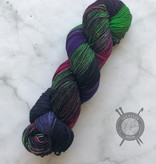 Dragonfly Fibers Aurora Borealis on Djinni Sock from Dragonfly Fiber