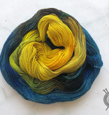 Dragonfly Fibers Van Gogh's Sunflowers on Djinni Sock from Dragonfly Fiber