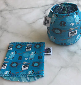 Slipped Stitch Studios Yarn Socks with YOT Fabric from Slipped Stitch Studios