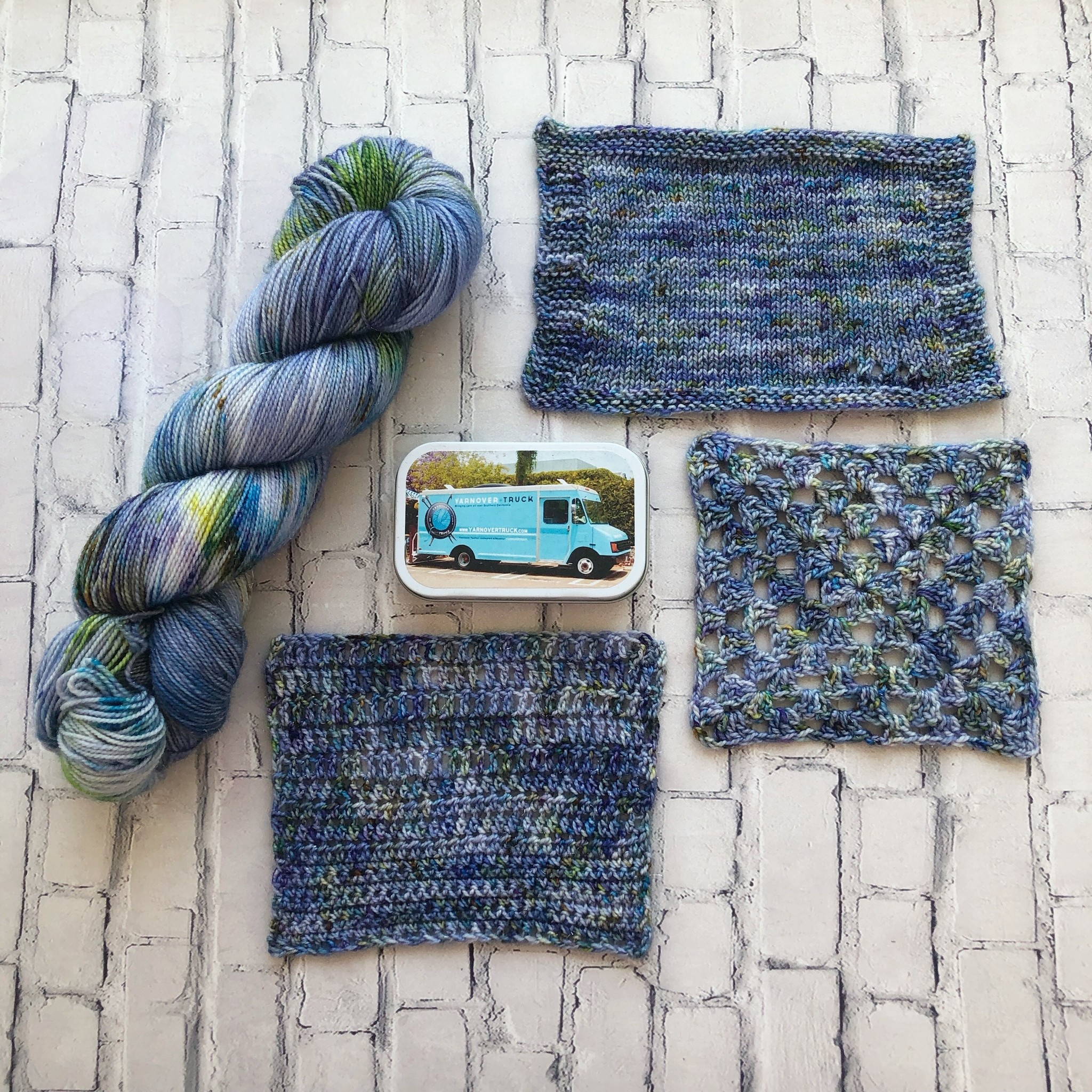 Western Sky Knits Forget Me Not on Twinkle Sock from Western Sky Knits