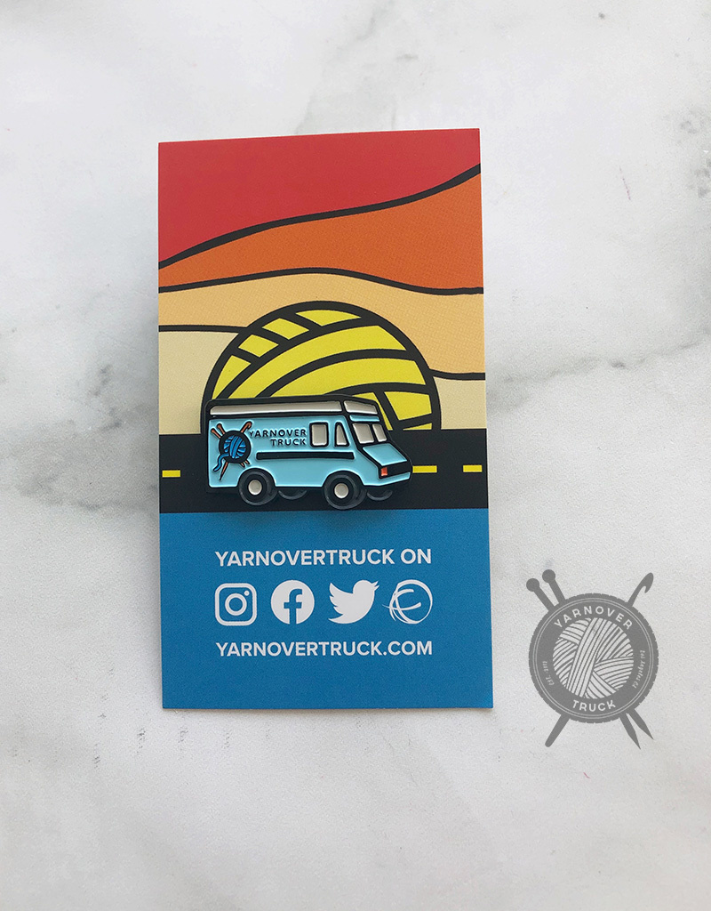 Yarnover Truck Enamel Pin from Nerd Bird Makery