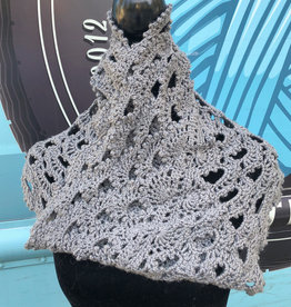 Sample - Grey  Crochet Cowl/Snood
