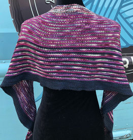 Sample - 3 Color Knit Shawl
