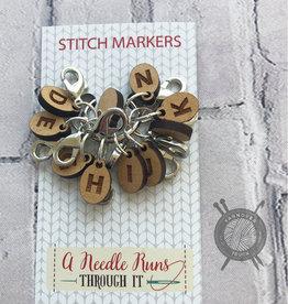 A Needle Runs Through It Crochet Hook Reminder Set