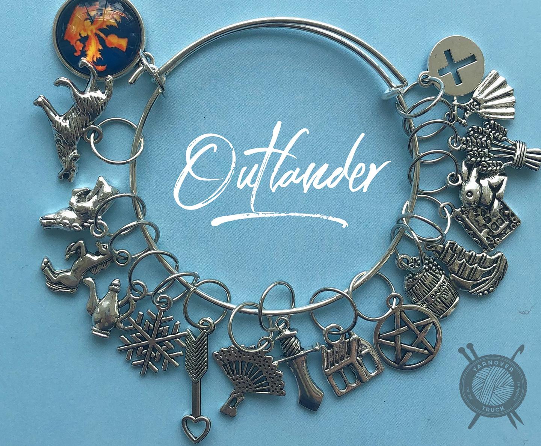 The Sexy Knitter Outlander Themed Stitch Marker Bracelet for Knitting