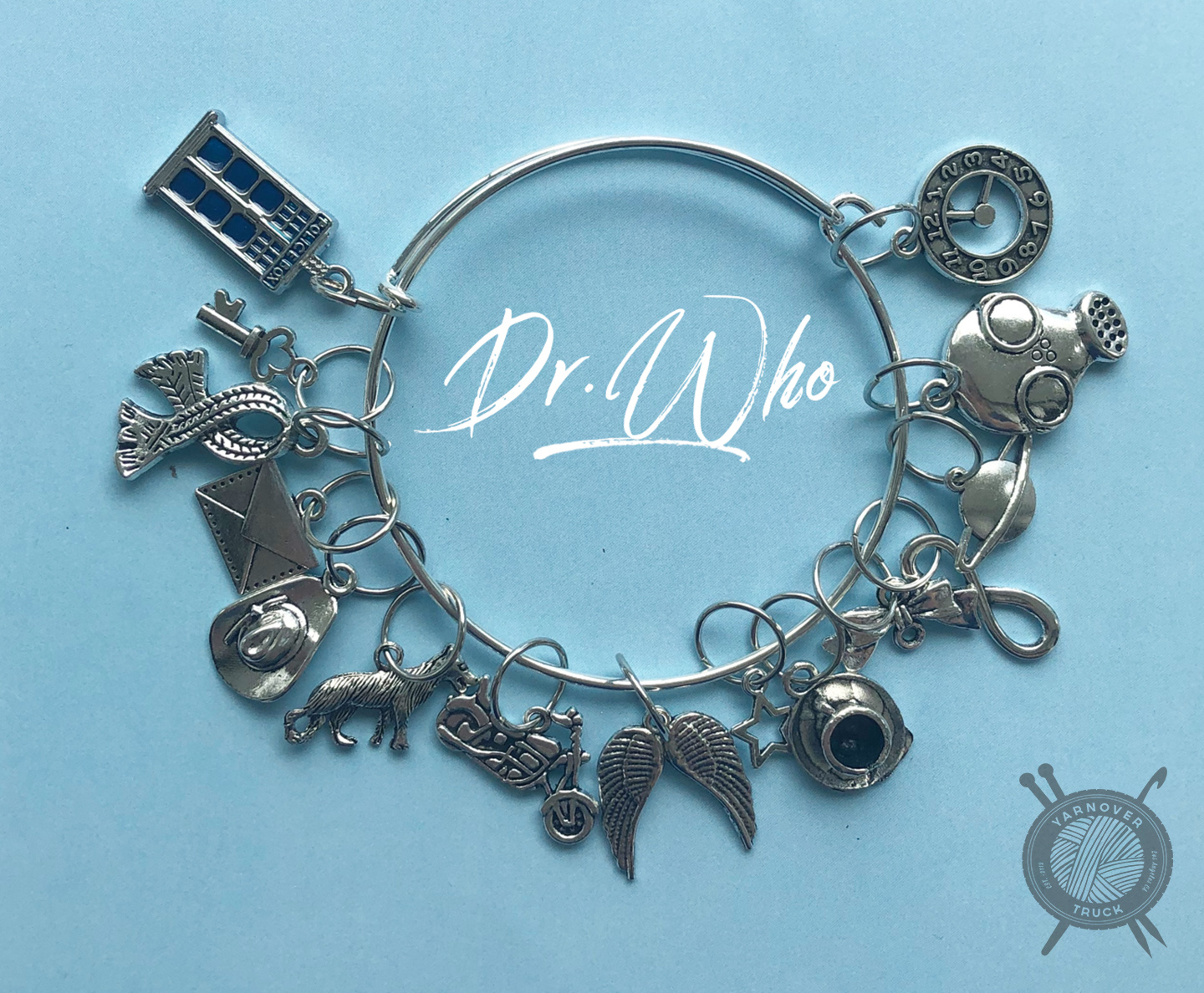 The Sexy Knitter Dr. Who Themed Stitch Marker Bracelet for Knitting