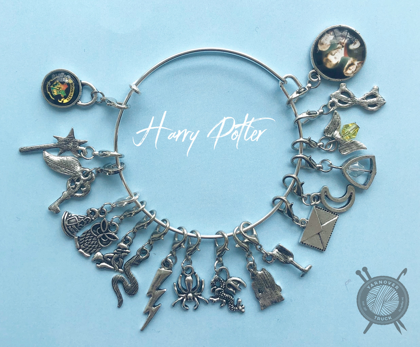 The Sexy Knitter Harry Potter Themed Stitch Marker Bracelet for Crocheting