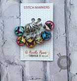 A Needle Runs Through It Color Butterflies Marker Set for Crochet