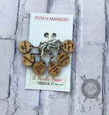 A Needle Runs Through It Inspirational Themed Stitch Marker Set for Crochet