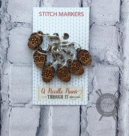 A Needle Runs Through It Sugar Skull Marker Set for Crochet