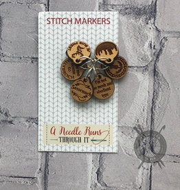 A Needle Runs Through It Outlander Themed Stitch Market Set for Knitting