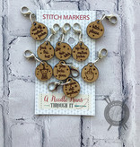 A Needle Runs Through It NSFW Stitch Marker Set for Crocheting