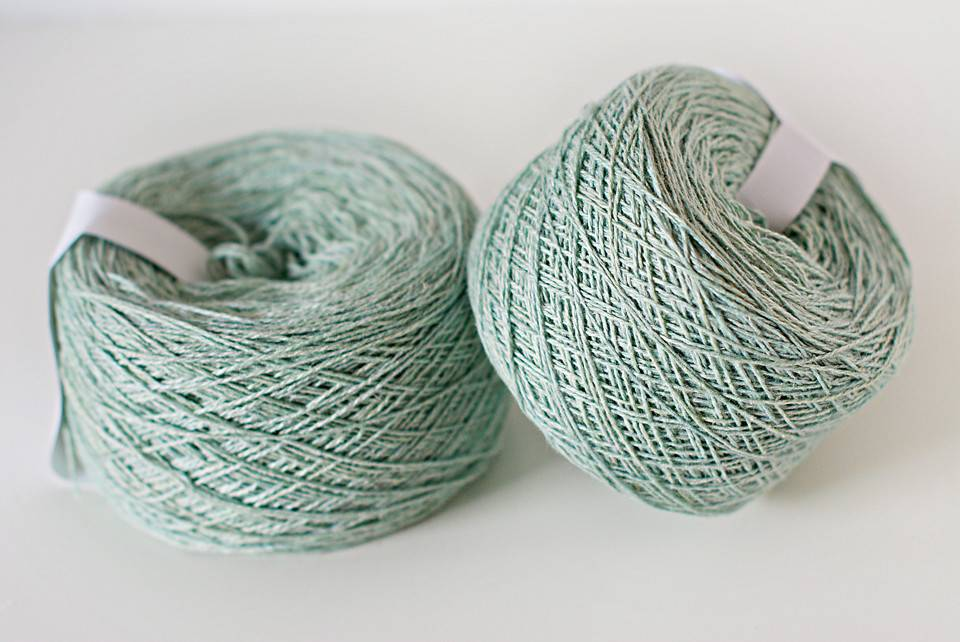 Anzula Minty Unicorn on Breeze Lace from Anzula Luxury Fibers